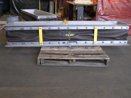 Small Rectangular Fabric Expansion Joint ready for shipping