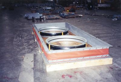 Rectangular and Round Fabric Expansion Joint ready for shipment
