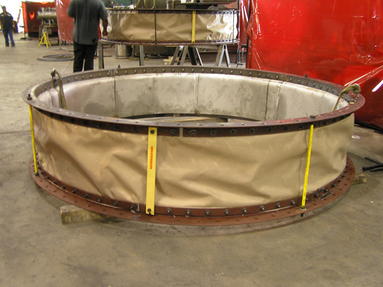 Round Fabric Expansion Joint with liner