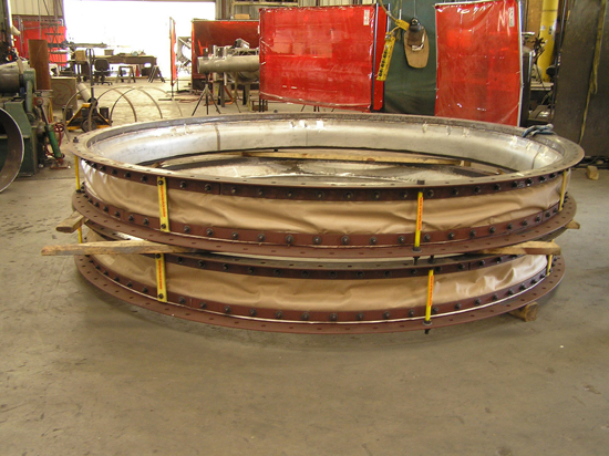Round Fabric Expansion Joint with internal liner