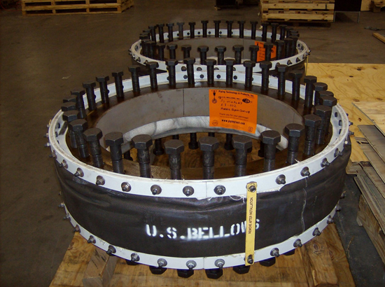 Round fabric expansion joints
