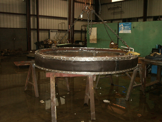 round fabric expansion joint in process