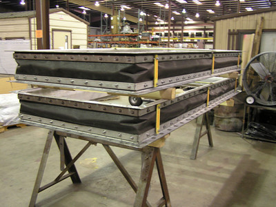 Rectangular Fabric Expansion Joint prepared for QC Inspection