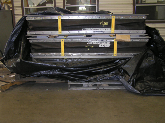 Rectangular Fabric Expansion Joint getting ready for shipment