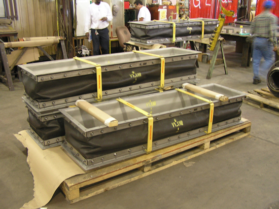Rectangular Fabric Expansion Joint ready for shipping