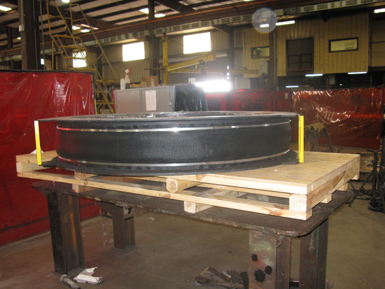 Round fabric expansion joint ready for shipment