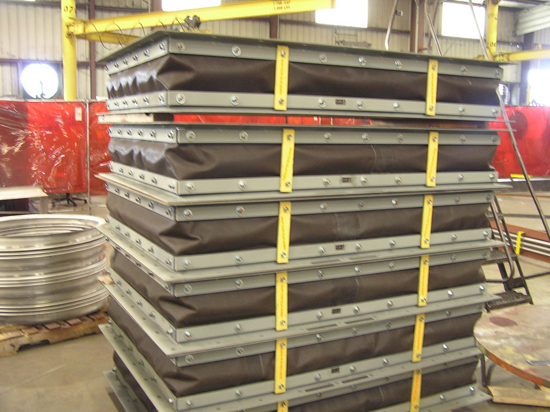 Rectangular Fabric Expansion Joint ready for shipment
