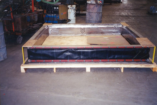 square fabric expansion joint ready for shipment