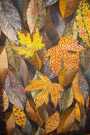 Black Forest - Embellished Art Quilt - Framed in Walnut & Oak