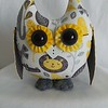 Neutral Gender, Yellow & Gray Owl Pal $23 + Shipping