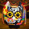Day of The Dead - stuffed Owl Pal $23 + Shipping