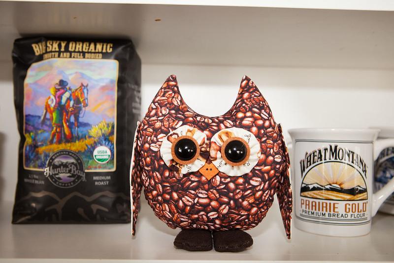 Coffee Bean Stuffed Owl Pal $23 + Shipping