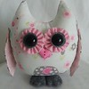 Baby Girl - Pink & Gray Jungle Owl $23 +shipping