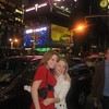 Melissa Zirolli and Casey in Times Square