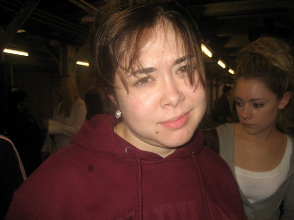 """From Janine's FB album, """" autumn in new yorkkk"""" (10-12-06'). Cassie & Casey.<br /> <br /> Caption: midterm tomorrow? what?"""