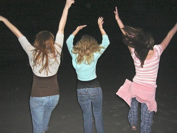 "Melissa Zirolli, Casey & Amber Staska on the beach at night.  Click here to  <a href=""http://caseyfeldman.smugmug.com/Shore/Sr-Week-06/9444542_iz8W9#633416939_pesoG  "">view this album</a> in the ""Shore"" category."