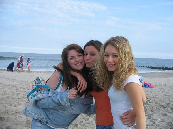 Amber, Rachel & Casey. Amber believes this was in the spring when the girls volunteered to do cleanup on the beach.