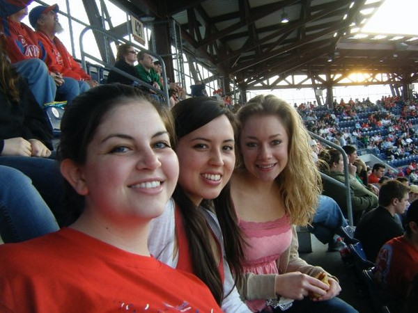 """Callie:""""At the Phillie's Game!!""""<br /> <br /> From Callie's FB album, """"""""Philly/NJ"""" (May 17, 09')"""