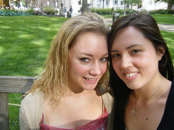 """Callie: """"Rittenhouse Square. Casey and Callie reunion"""".<br /> <br /> From Callie's FB album, """"""""Philly/NJ"""" (May 17, 09')"""