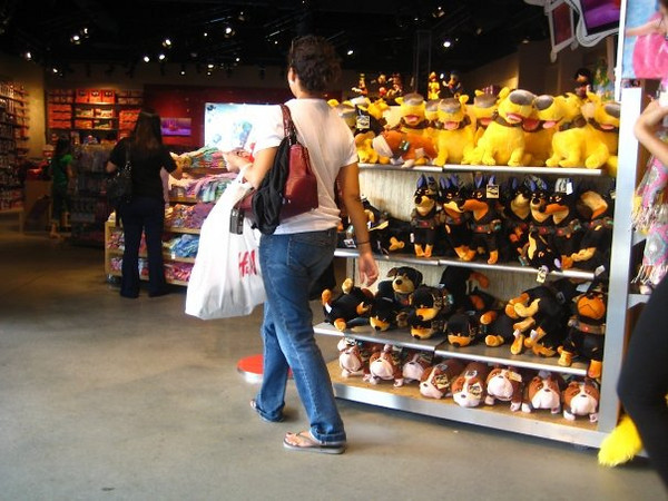 me and my roommates and berino had way too much fun in the disney store.