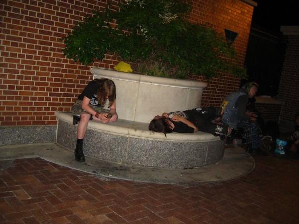 Crazy homeless hippies