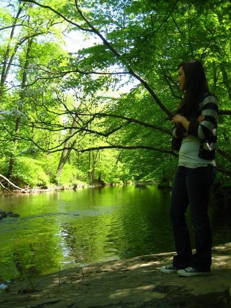 callie wanted to see the pennsylvania wilderness. aka ridley creek park ahhaha