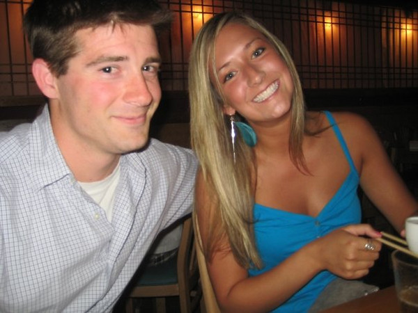 Melissa and her roomates boyfriend at saki bombing in towson