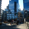 A photo of the Time Warner Building in Columbus Circle, one block from Fordham.