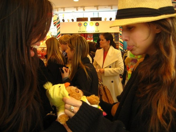 Callie and Janine at Dylan's Candy Bar in NYC.