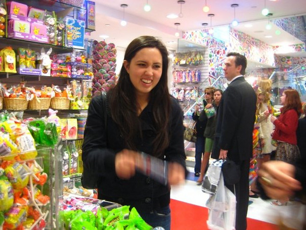 Callie at Dylan's Candy Bar in NYC.