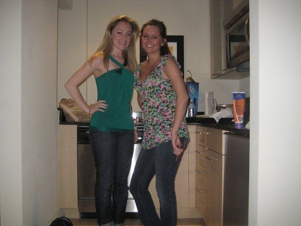 """St. Patrick's Day - Casey's quote for this photo from facebook: """"of course i wore green, Jamie was not so festive""""."""