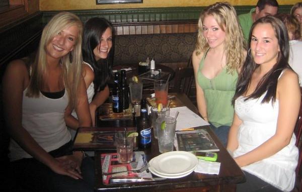 """team david hasselhoff.""<br /> <br /> In this photo: Melissa Moritz, Rachael Kemmey,Casey Feldman,Mallory Capoferrii"