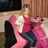 "Brooke:"" Casey in Boston, Pink"" - Casey before heading out to dinner during our visit in Boston. This was in Callie's dorm room, which was really a hotel room."