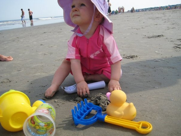 """""""her first time on the beach"""""""