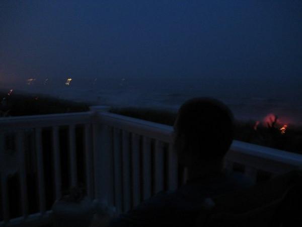 Brett on the deck in Sea Isle