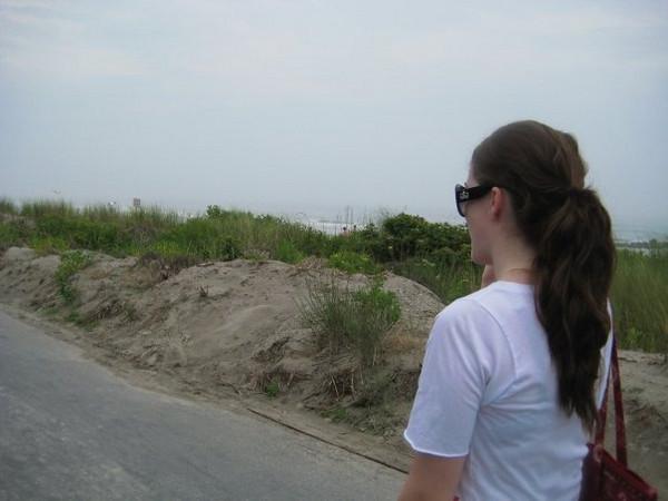 Amber on the promenade in sea isle