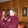 """From Kelsey's Memory, <a href=""""http://www.CaseyFeldmanMemories.org/items/show/82""""> """"Being Silly in Front of the Camera"""" </a>.  Kelsey Butler: This was one night during the summer before our junior year. Casey came to visit me for the weekend in Northern New Jersey and we attended the Alumni Reunion at Fordham to represent the Observer. At the event, they were giving out these Fordham blankets and so as soon as we got back to my house we decided to have an impromptu silly photo shoot using our blankets as accessories.  This just shows Casey's personality as I remember it most--always able to take every situation and have fun with it. Silly photo shoots were her specialty. I am so grateful to Casey for always having her camera and capturing all these moments of pure, unadulterated happiness."""
