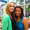 """""""aww""""<br /> <br /> Brooke and Kelsey at the Fordham Reunion, standing at the Observer's table"""