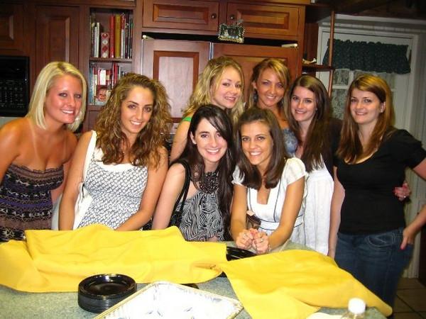 Casey's friends at Brett's grad party!