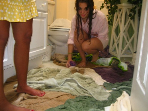 janine, aka the swamp thing that arose from the flood, cleaning shiz up
