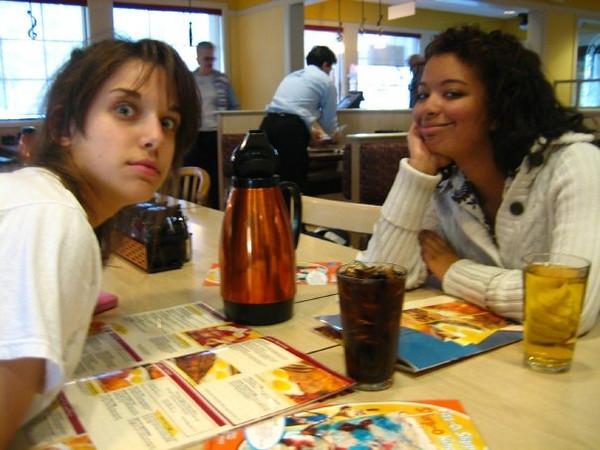 IHOP! we were so cranky