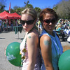 st pattys day parade! me and kelsey being tough with our shamrock tattoos holla