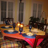 neen's moms house in hilton head!<br /> <br /> table all set for our family dinner :)