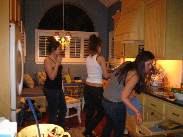ladies cooking in the kitchen