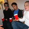 Marc Girard, Jon Armenti, and Craig Calefate at a party in Casey's room.
