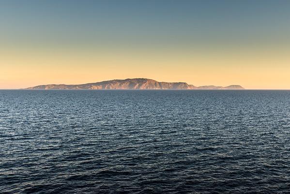 Italian Island at Sunset