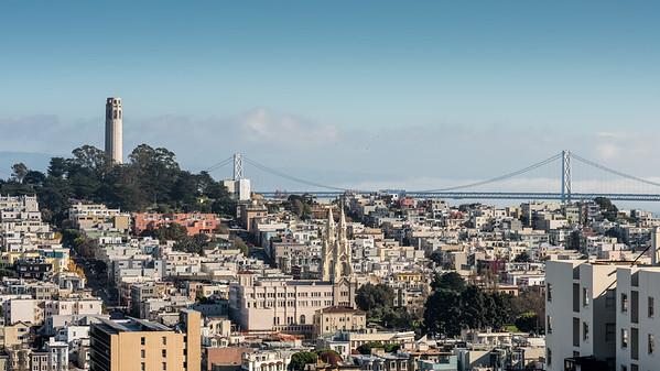 San Francisco Skyline as seen from Lombard Street