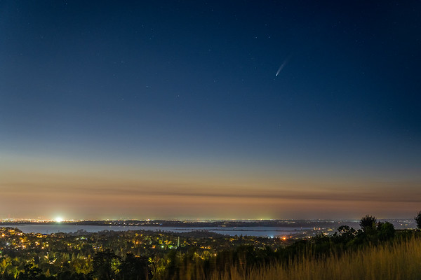 Comet NEOWISE over Folsom Lake