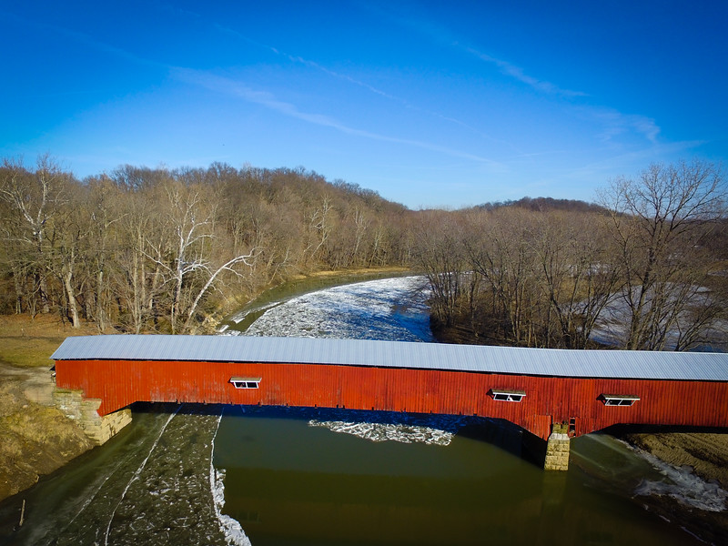 Covered Bridge over Sugar Creek-Parke County Indiana