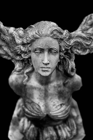 Statue With Flowing Hair